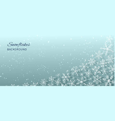 winter holiday and christmas abstract background vector image
