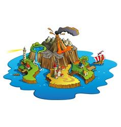 Wonder island vector image