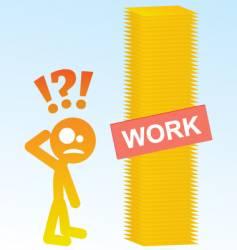 work load vector image