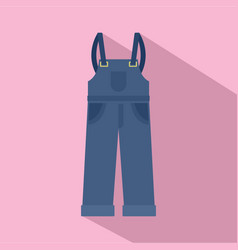 Worker pants icon flat style vector