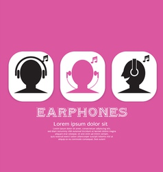 Earphones EPS10 vector image
