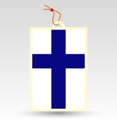 finnish made in tag vector image vector image