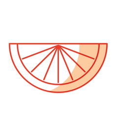 fresh slice of orange vector image