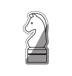 horse chess game vector image
