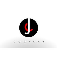 jc logo letter design vector image vector image