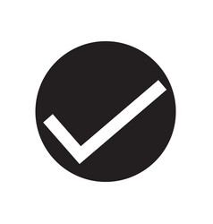 check mark icon on white background check mark vector image