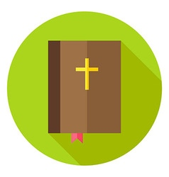 Christian Bible Book with Bookmark and Cross vector image vector image