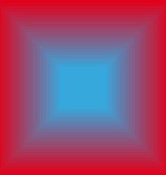 Glowing blue square vector image