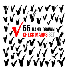 hand drawn check marks vector image
