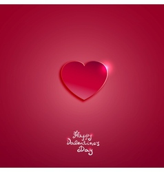 Creative pink paper heart for Valentines day card vector image vector image