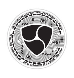 crypto currency nem black and white symbol vector image vector image