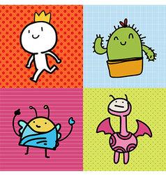 Doodle Card kids vector image vector image