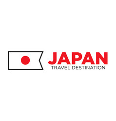 Japan travel destination advertisemant with vector
