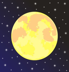 moon in the night sky with stars vector image