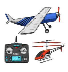 rc transport aircraft remote control models vector image