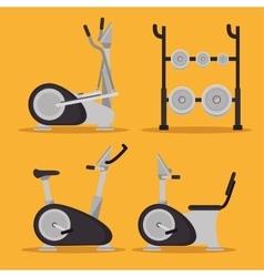 set machine gym sport design vector image