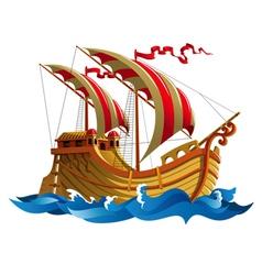 Ship at sea vector image vector image