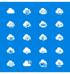 Cloud computing flat icons vector image vector image