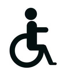 Handicap sign in black and white colors design vector image vector image