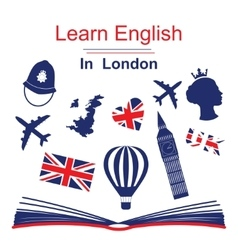 Learn english in London poster vector image vector image