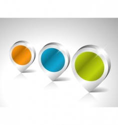 round 3d pointers vector image vector image