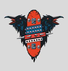 skateboard vintage poster skate punk emblem with vector image