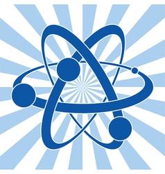 symbol of atom vector image vector image