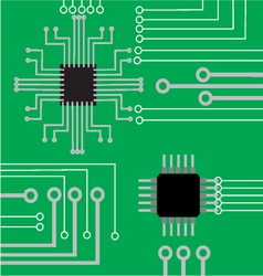 System computer electronic board flat modern backg vector image