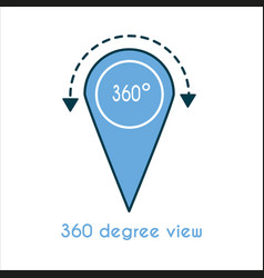 360 degree view flat icon vector image