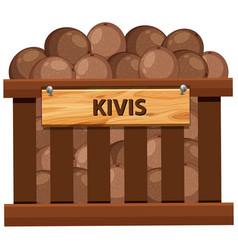 A crate of kiwi vector