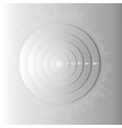 Abstract gray circles with shadow infographic vector image