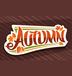 banner for autumn vector image