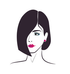 beautiful woman hair salon icon vector image
