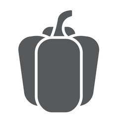 bell pepper glyph icon vegetable and diet vector image