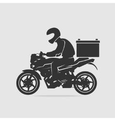 Bike food delivery vector image