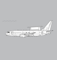Boeing 737 aewc e-7a wedgetail vector
