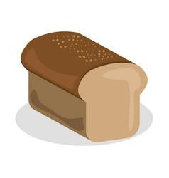 Bread icon bakery nutrition vector