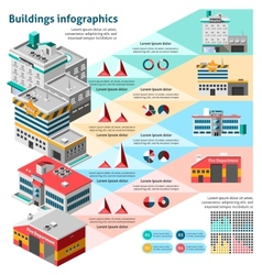 Buildings Infographics Set vector
