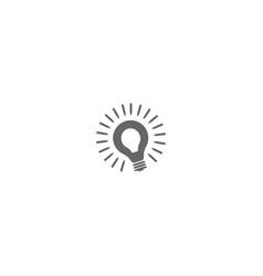 bulb or lamp logo design symbol dan icon template vector image