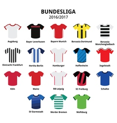 Bundesliga jerseys 2016 - 2017 German football vector image