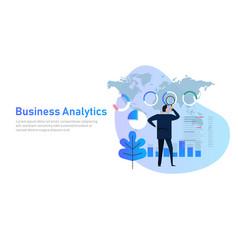 Business analytics analysis graph financial vector