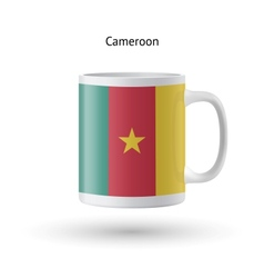 Cameroon flag souvenir mug on white background vector