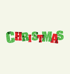 christmas concept stamped word art vector image