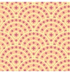Cirlce With Ruby Shape Seamless Pattern vector image