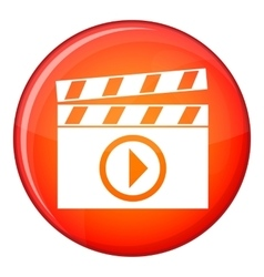 Clapperboard for movie shooting icon flat style vector