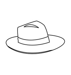 Classic men hat with ribbon accessory vector