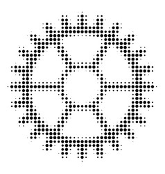 clock wheel halftone icon vector image