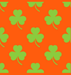 Clover pattern on an orange background vector