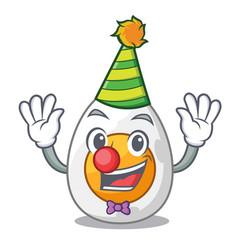 Clown freshly boiled egg isolated on mascot vector