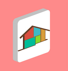 cottage house computer symbol vector image